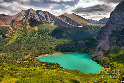 Photograph - High Above Grinnell Lake by Adam Jewell