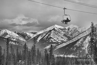 Photograph - High Above Kananaskis Country Black And White by Adam Jewell