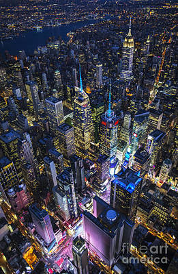 Photograph - High Above The City by Roman Kurywczak