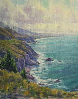 Simeon Painting - High Above The Surf by Joe Mancuso
