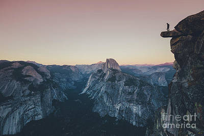 Photograph - High Above Yosemite Valley by JR Photography