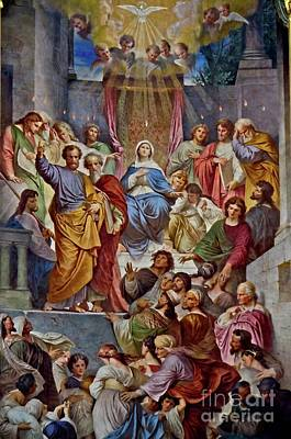 Photograph - High Altar Painting In The Jesuit Church In Heidelberg Germany by Elzbieta Fazel