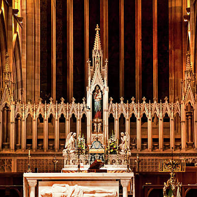 Photograph - High Altar St Mary's Cathedral  by Miroslava Jurcik