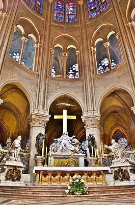 High Alter Notre Dame Cathedral Paris France Art Print