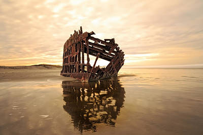 Peter Iredale Photograph - High And Dry, The Peter Iredale by Kay Brewer