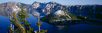 Crater Lake View Photograph - High Angle View Of A Lake, Crater Lake by Panoramic Images