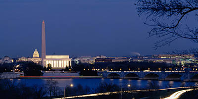 Washington Dc Street Scene Photograph - High Angle View Of Government Buildings by Panoramic Images