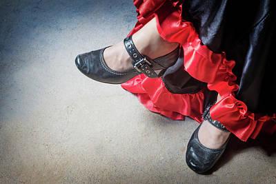 Spot Of Tea - High angle view of legs of the Flamenco dancer by Jaroslav Frank