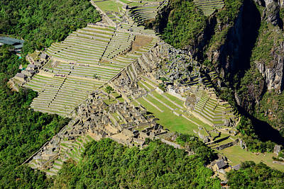 Photograph - High Angle View Of Machu Picchu by Oscar Gutierrez