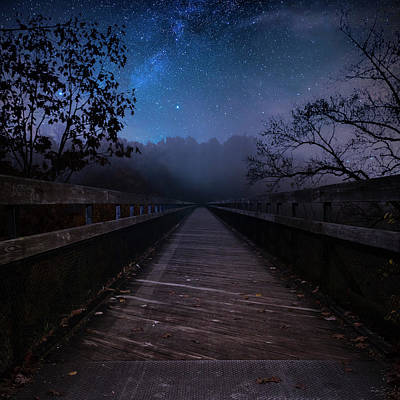 Photograph - High Bridge At Night by Rusty Glessner