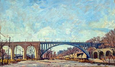 High Bridge Winter Light Nyc Original by Thor Wickstrom