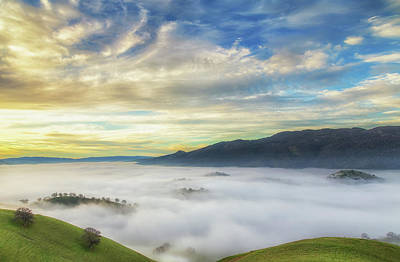 Photograph - High Clouds Above Fog by Marc Crumpler