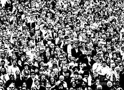 Xerox Photograph - High Contrast Image Of Crowd, C.1970s by R. Krubner/ClassicStock