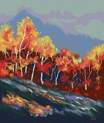 Painting - High Country Autumn by Brett Winn