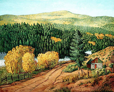 Mora Painting - High Country Autumn by Donna Clair