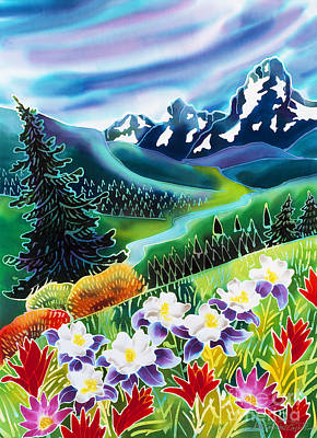 Batik Painting - High Country by Harriet Peck Taylor