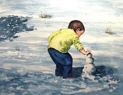 Painting - High Country Snow Girl by Sam Sidders