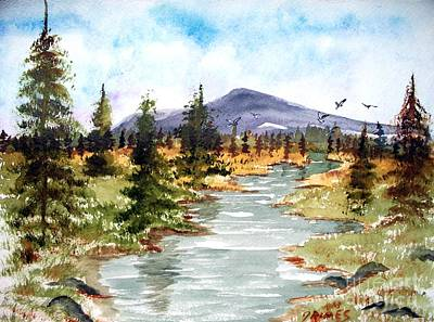 High Country Stream Art Print by Carol Grimes