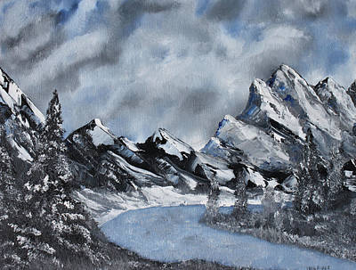 Painting - High Country Winter by Jack G  Brauer