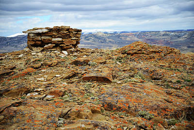 Photograph - High Desert Cairn by Eric Nielsen