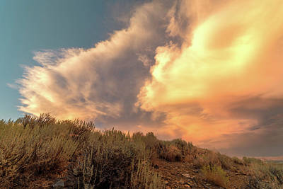 Photograph - High Desert Cloud Detail At Sunset With Warm Summer Tones by Brian Ball