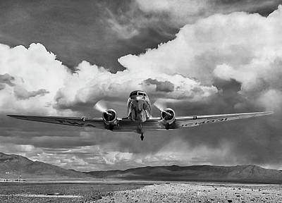High Desert Dc-3 Art Print by Peter Chilelli