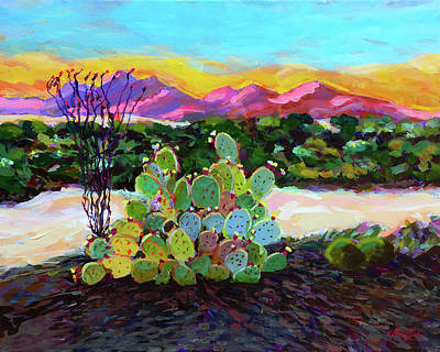 Wall Art - Painting - High Desert North Of Scotsdale by Charles Wallis