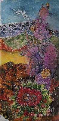 Mixed Media - High Desert Spring by Carol Losinski Naylor