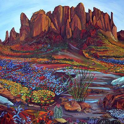 Painting - High Desert Spring by Terry R MacDonald