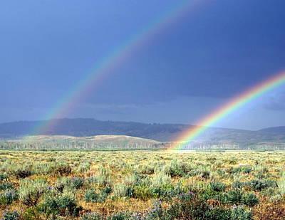 Photograph - High Dessert Rainbow by Marty Koch