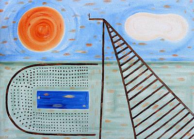 High Dive Art Print by Patrick J Murphy
