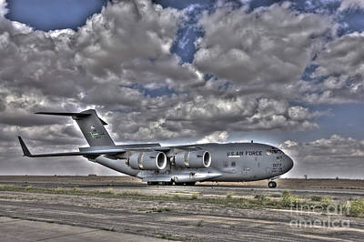 Tikrit Photograph - High Dynamic Range Image Of A C-17 by Terry Moore