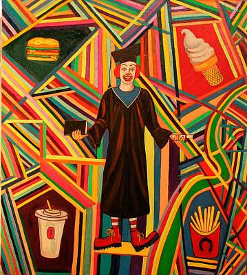 Ronald Mcdonald Painting - High Education by Fia Van den Berg