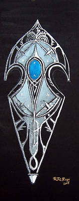 Painting - High Elven Warrior Shield  by Richard Le Page