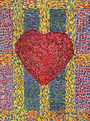 Painting - High Energy Heart #5 by James Homer Brown