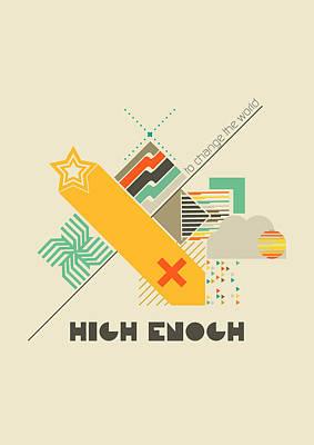 Green Geometric Art Digital Art - High Enough  by BONB Creative