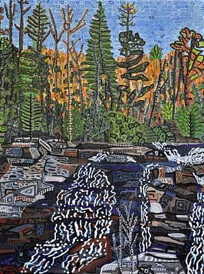 Dupont Painting - High Falls - Dupont Forest by Micah Mullen