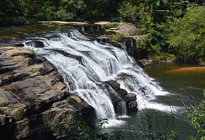 Photograph - High Falls At High Falls Park Alabama by rd Erickson