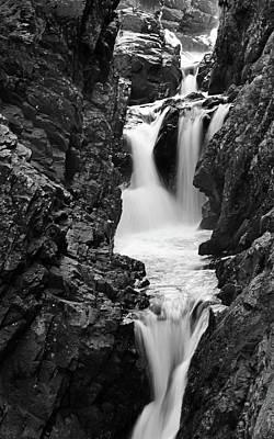 High Falls Gorge Black And White Art Print by Sierra Vance