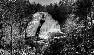 Photograph - High Falls In Black And White by Carol Montoya