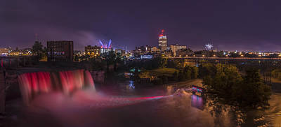 Lightshow Photograph - High Falls Light Show by Mark Papke