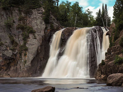 Cliffs Photograph - High Falls Of Tettegouche State Park 1 by AMB Fine Art Photography