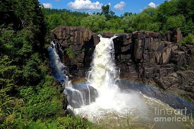 High Falls On Pigeon River Art Print