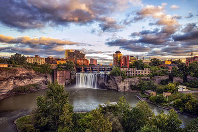 Photograph - High Falls Rochester by Mark Papke
