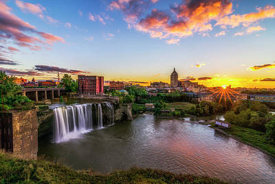 Photograph - High Falls Rochester Ny by Mark Papke