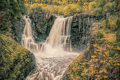 Photograph - High Falls With Filter by Gerry Sibell