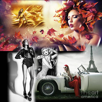 Collage Art For Sale Digital Art - High Fashion by John Rizzuto