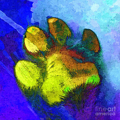 Puppy Mixed Media - High Five by Stacey Chiew