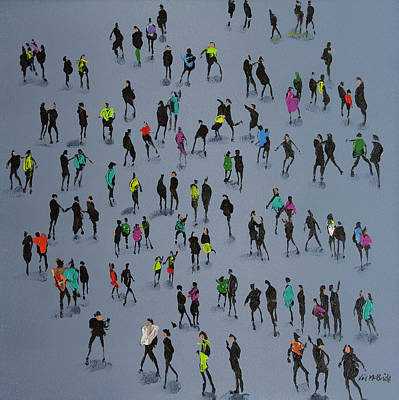 Wall Art - Painting - High Fives by Neil McBride