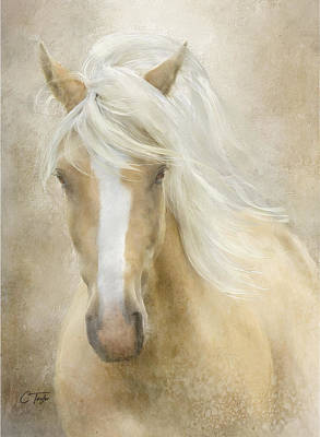 Palomino Horse Painting - Spun Sugar by Colleen Taylor